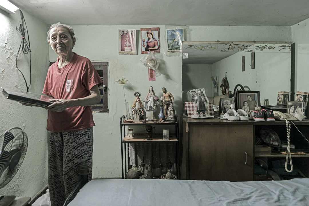 何秋蘭在古巴的家中。