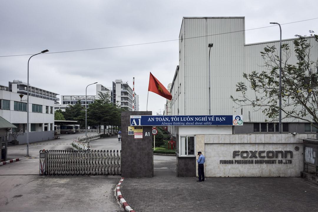 位於河內東北方北江省的富士康工廠,員工總數超過4萬人。