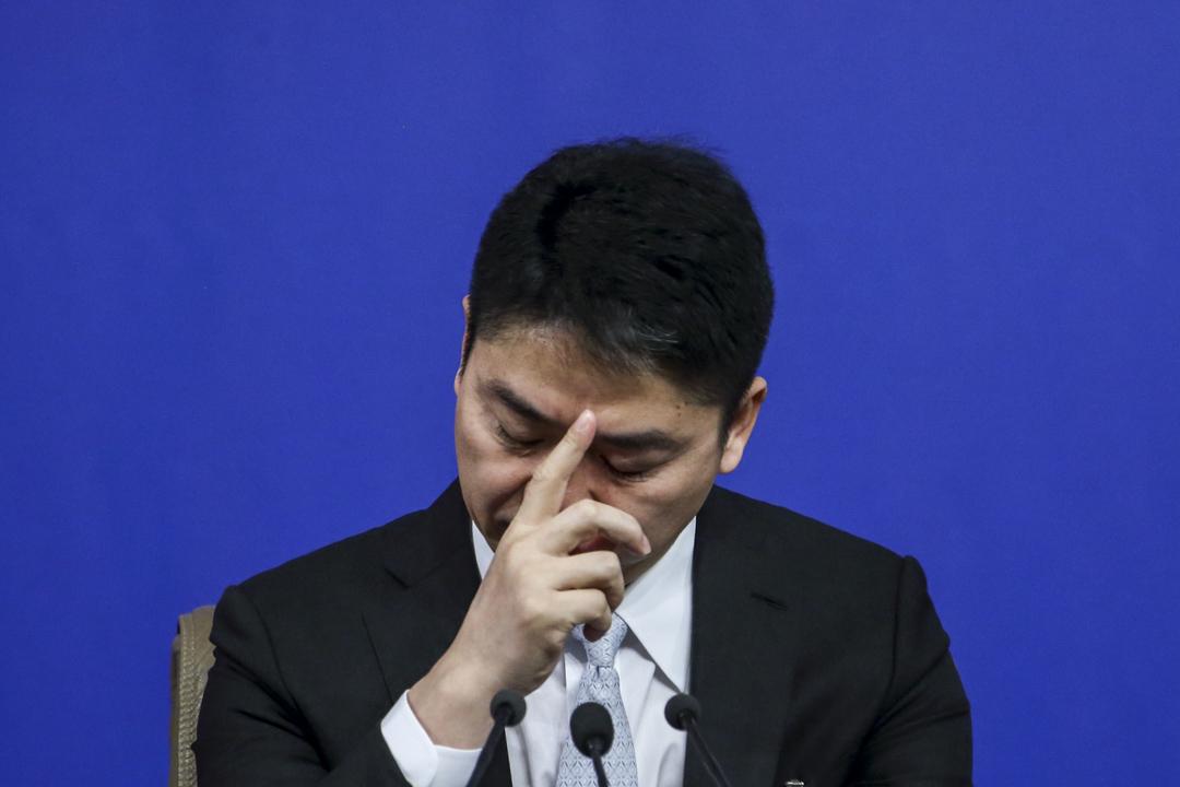 2018年3月10日,劉強東出席全國政協記者會。 攝:Imagine China