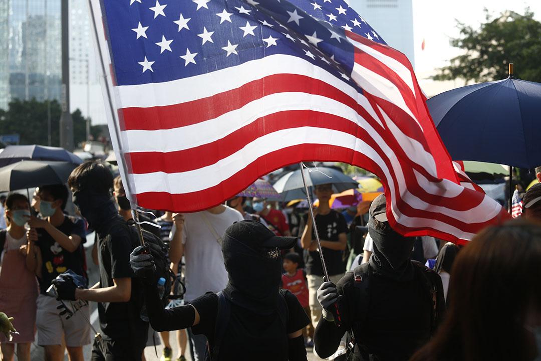9月15日,下午3點左右,「國際民主日」遊行現場。