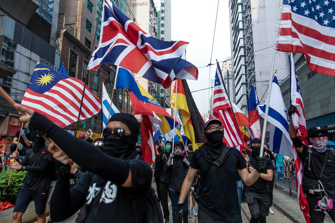 2019年9月29日,示威者發起「全球反極權」大遊行。