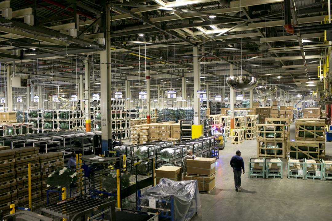 2016年9月29日,美國俄亥俄州的福耀汽車玻璃廠。