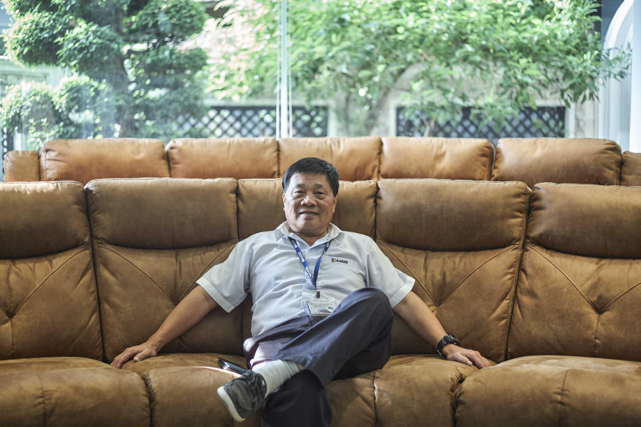 羅子文在他位於越南平陽省的家中。 攝影:李亞楠