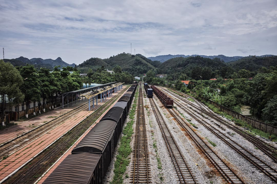 同登市鎮是越南河同鐵路與中國湘桂鐵路的接軌站,也是中越邊境重要的物流中轉站。