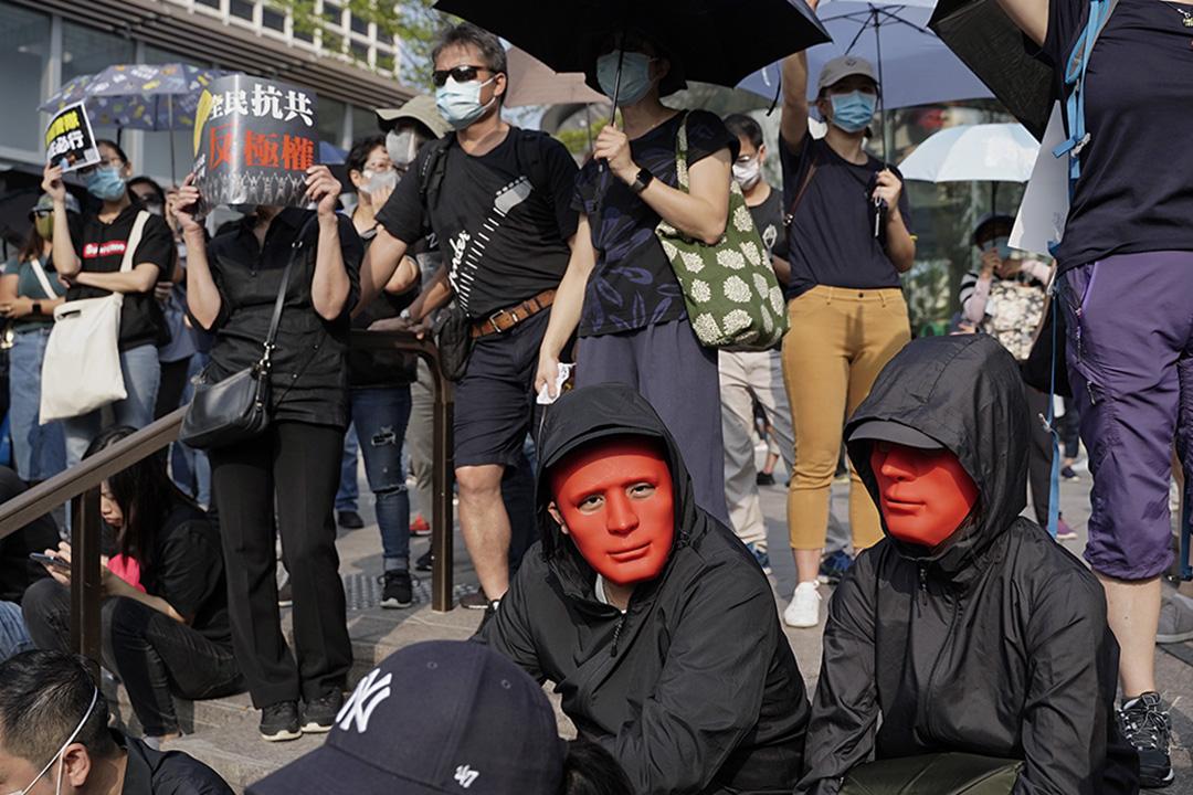 2019年10月27日,示威者在尖沙咀聚集。