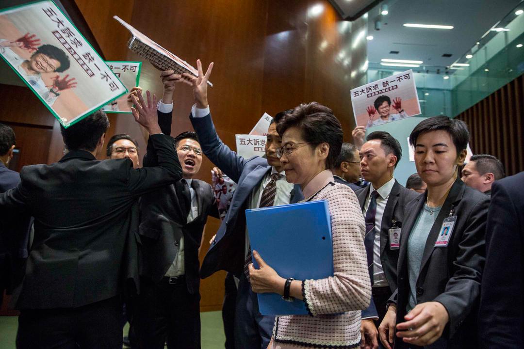 2019年10月16日,林鄭於立法會發表施政報告。