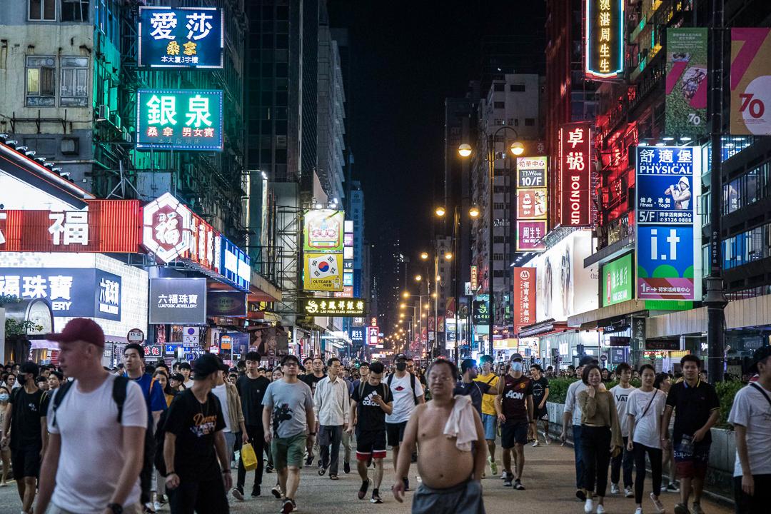 2019年10月5日,市民佔領旺角彌敦道。