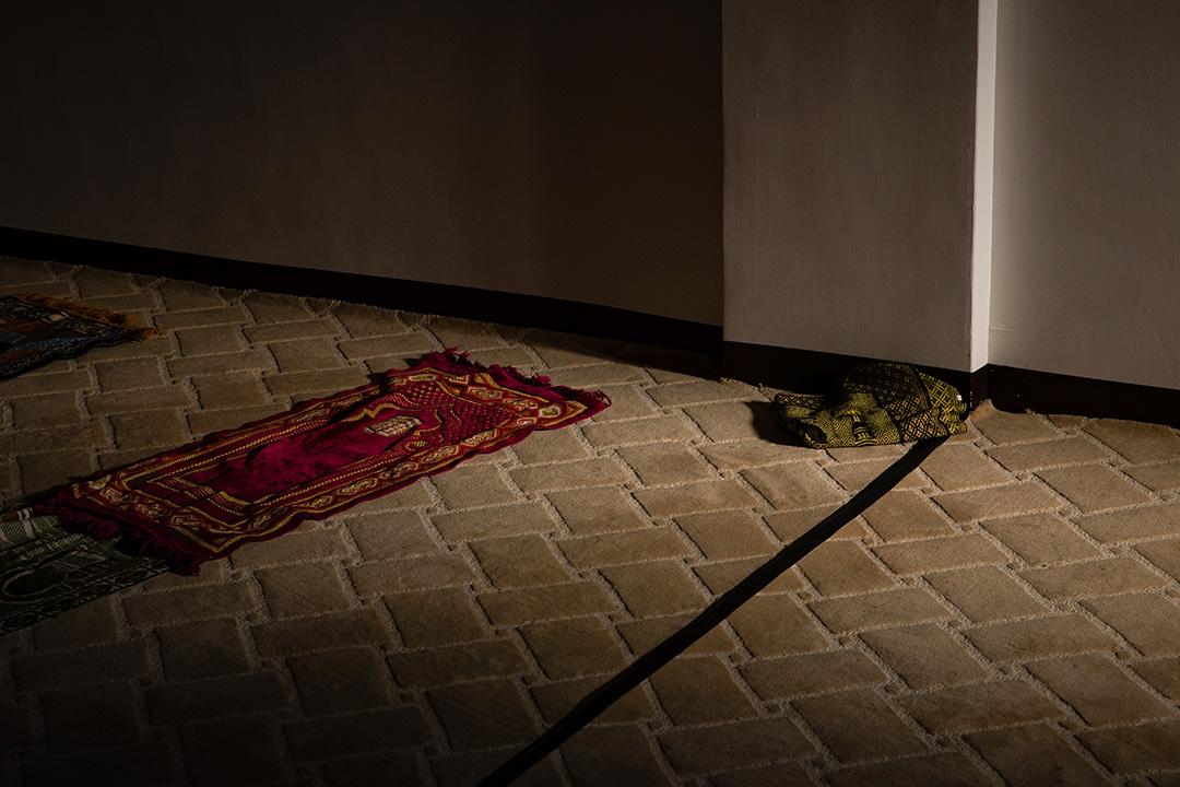南方澳清真寺的祈禱室。