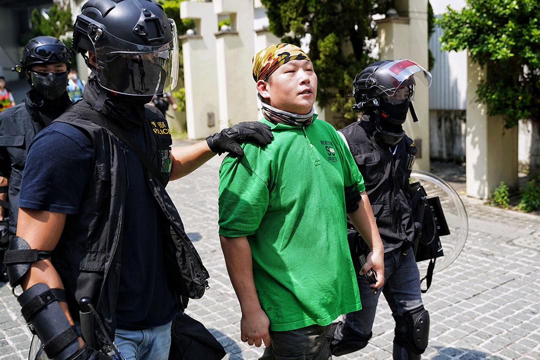 一名市民在黃大仙被捕。