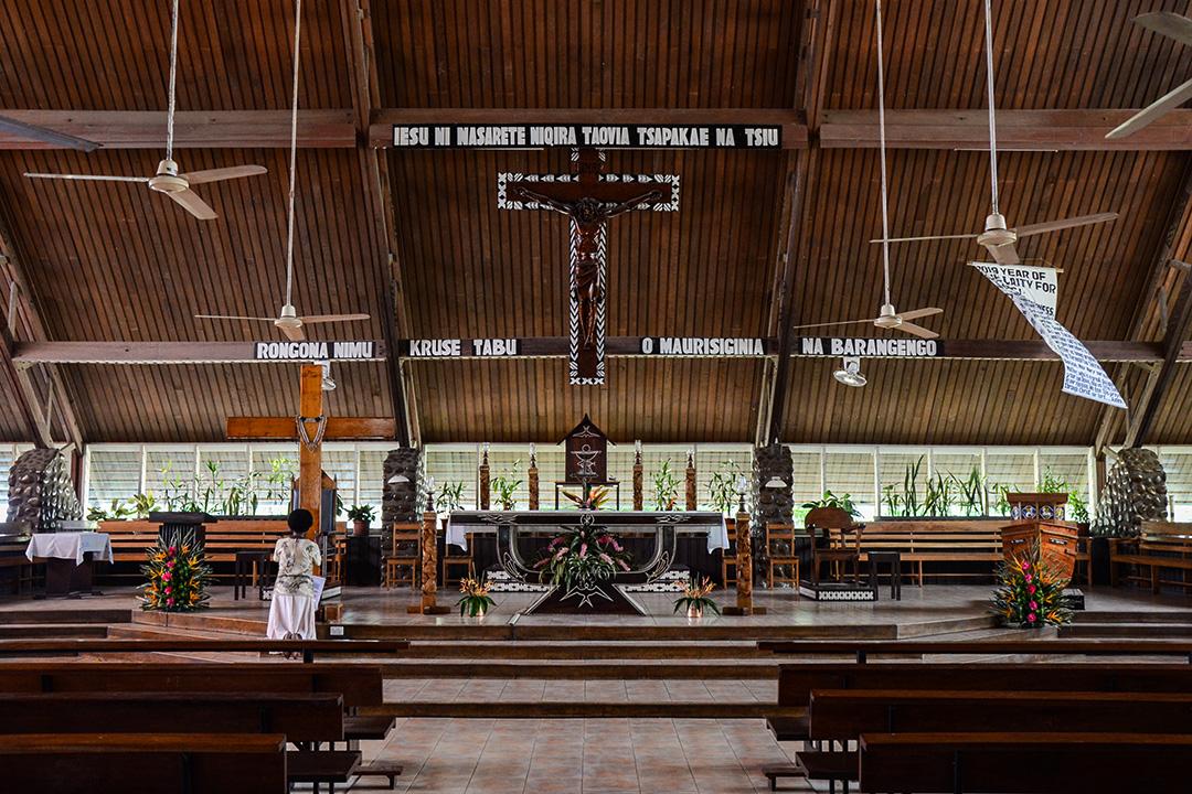 荷尼亞拉市區的神聖十字教會。