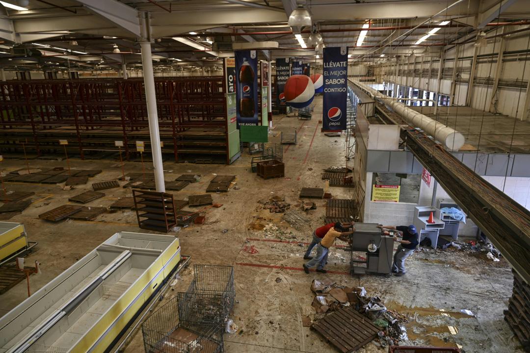 2019年3月13日,委內瑞拉一家超級市場被搶劫一空。