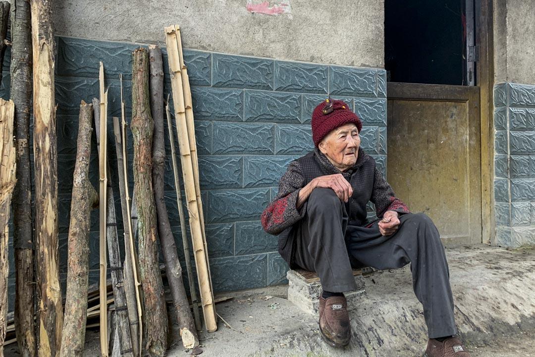今年95歲的唐家美是大宅村地主唐漢鳩的後代。