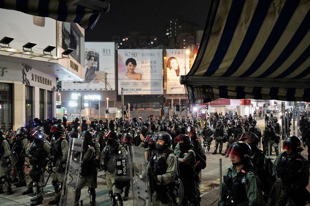 2019年10月26日,元朗大馬路防暴警察到場。