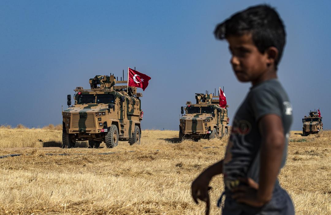 2019年10月,土耳其進軍北敘利亞。