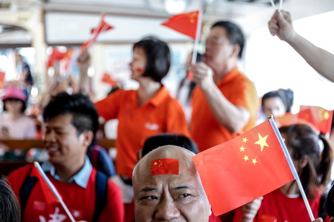 2019年10月1日,網上發起「國慶護旗手」行動,早上於中環舉行。