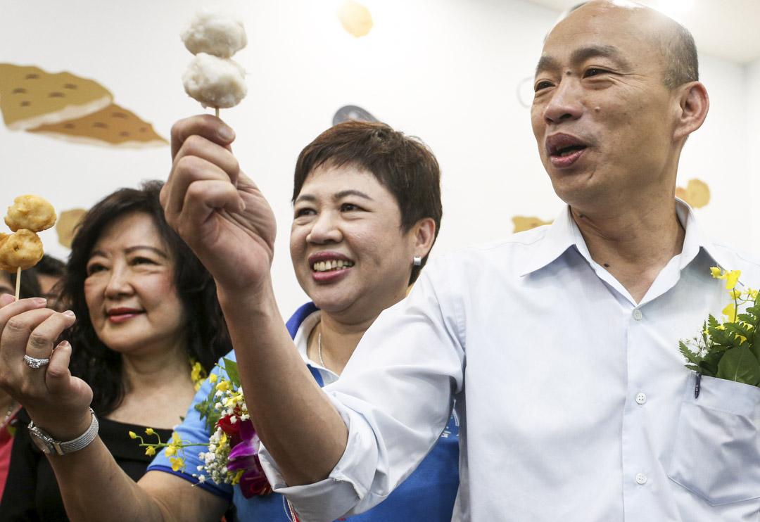 2019年9月4日,高雄市長韓國瑜參觀花枝丸工廠。 圖:IC photo