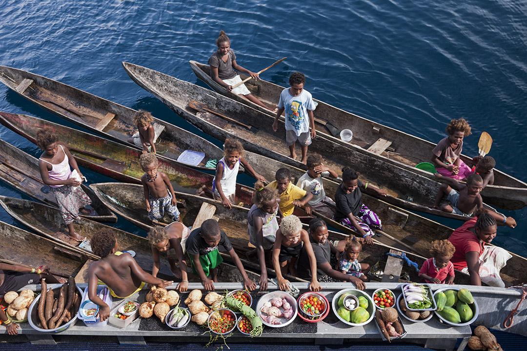 所羅門群島的市場。