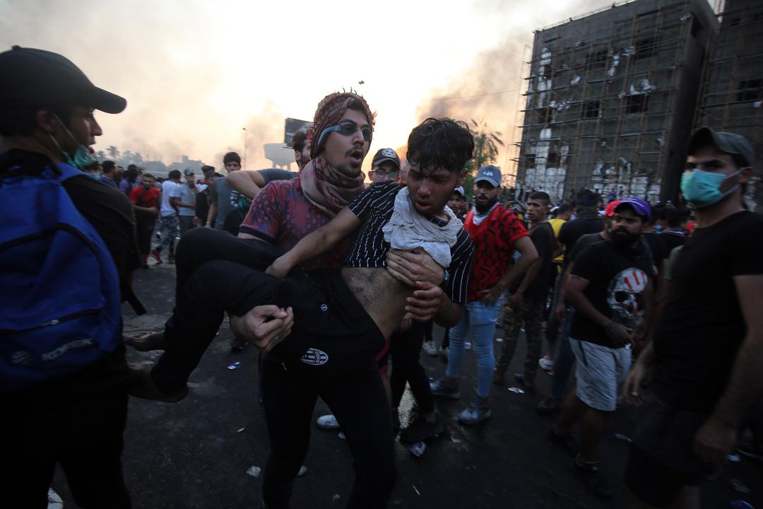 2019年10月,伊拉克爆發街頭衝突。