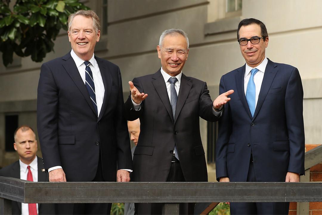 2019年10月10日,美國華盛頓,中美兩國高級代表重啓經貿磋商。 攝:Chip Somodevilla/Getty Images