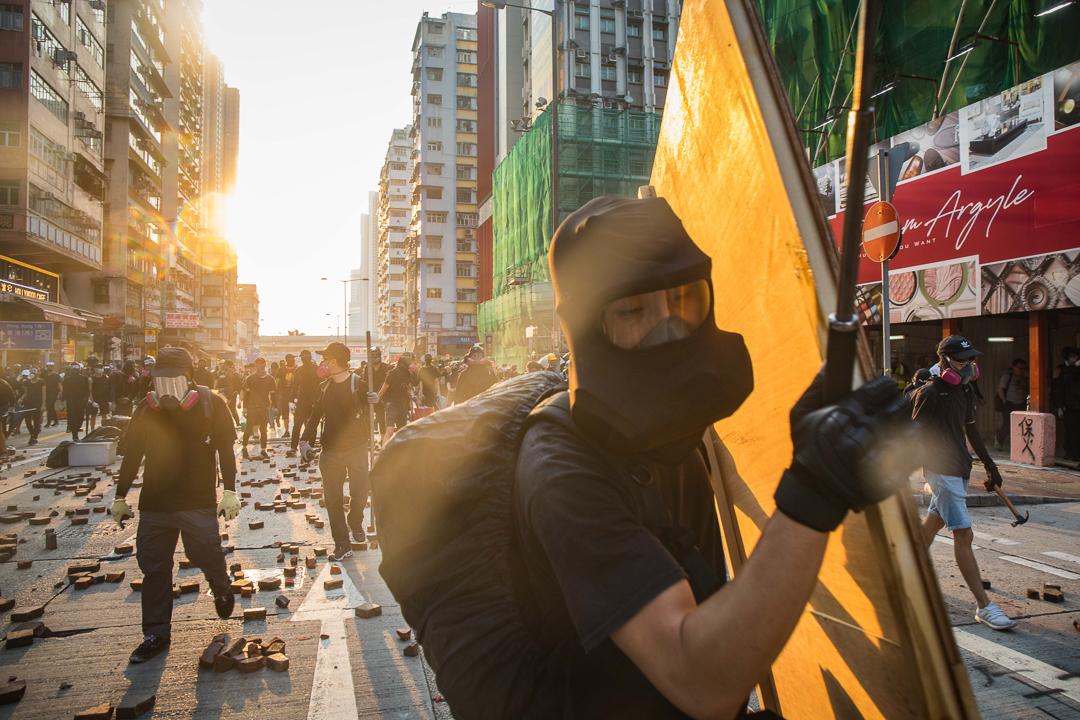 2019年10月20日,九龍區發起反對禁蒙面法遊行。