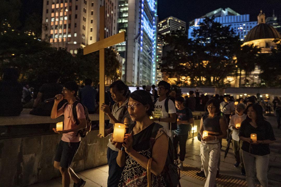2019年8月30日,香港的基督徒的反修例遊行。 攝:Anthony Kwan/Getty Images