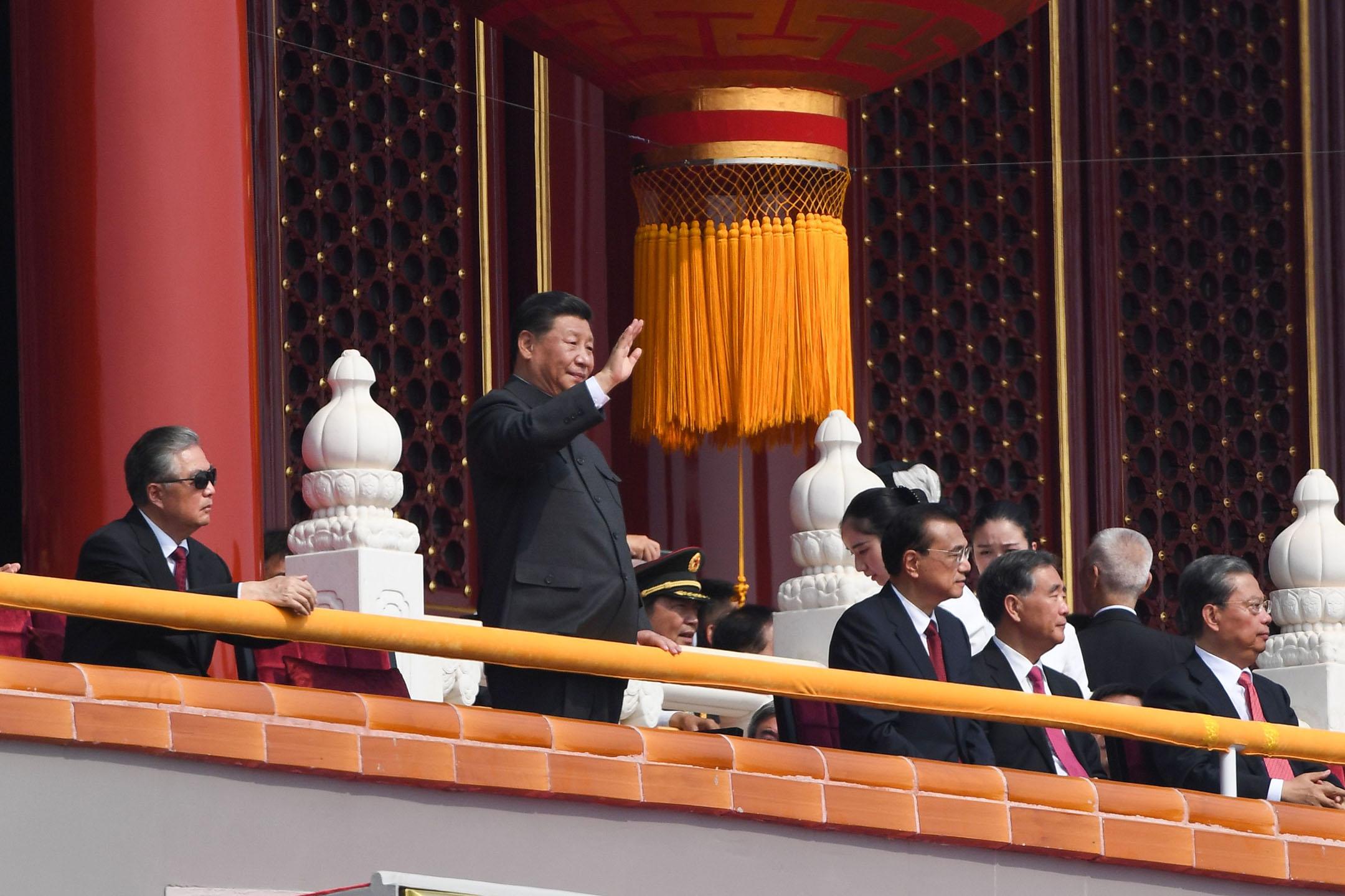 10月1日,中華人民共和國建國70週年紀念日,習近平主席出席閱兵儀式及慶典。 攝:GREG BAKER/AFP/Getty Images