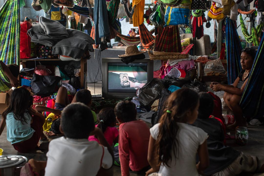 2019年4月6日,來自委內瑞拉的難民暫居在巴西帕卡賴馬的收容所。