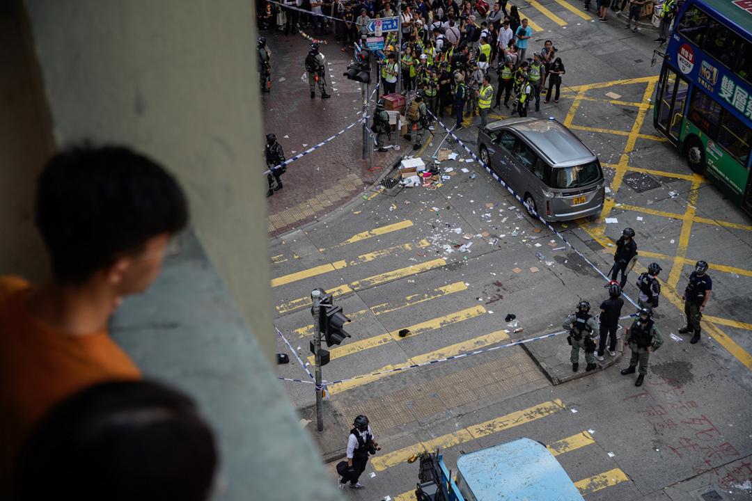 2019年11月11日,香港發起三罷行動,圖為西灣河現場。