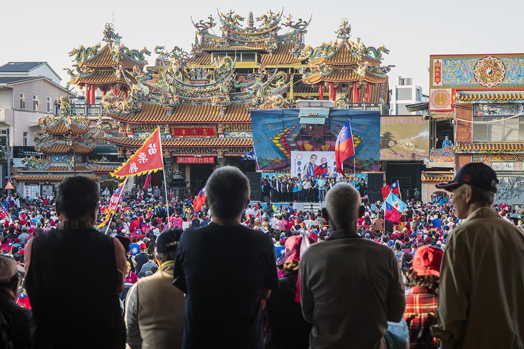 2019年11月5日,韓國瑜在台灣苗栗舉行造勢活動。