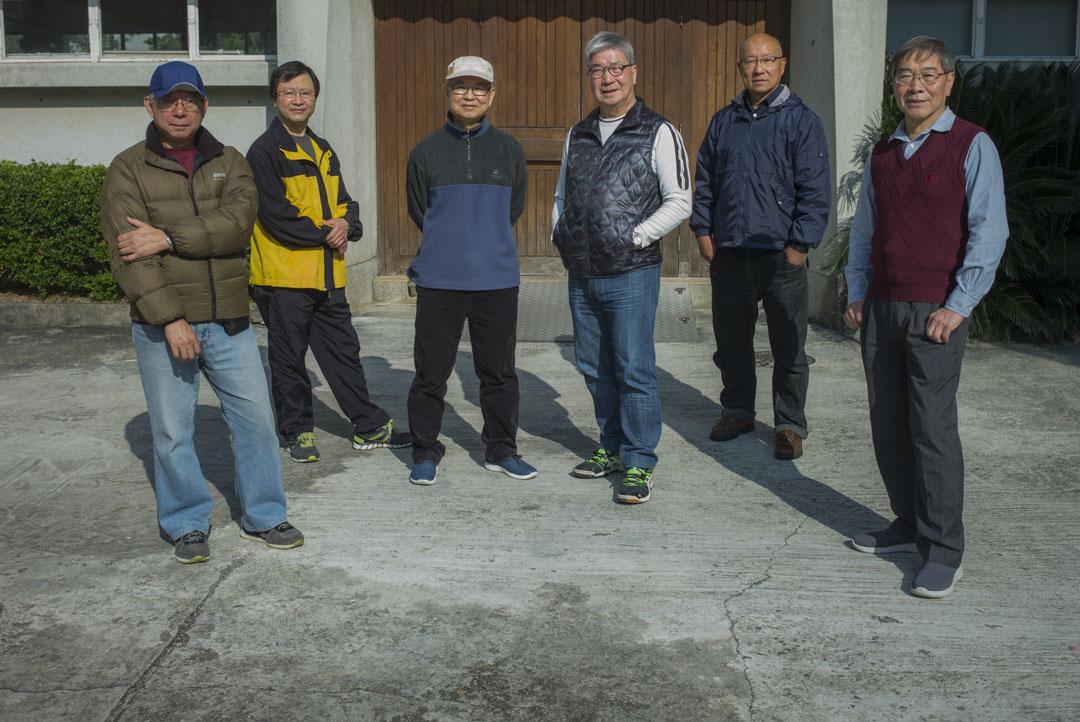 「生前遺言」攝製組成員: Sam歐陽、伍傑輝(KF)、Sigmon Fung、吳國雄、Kent Chu及梁世平。