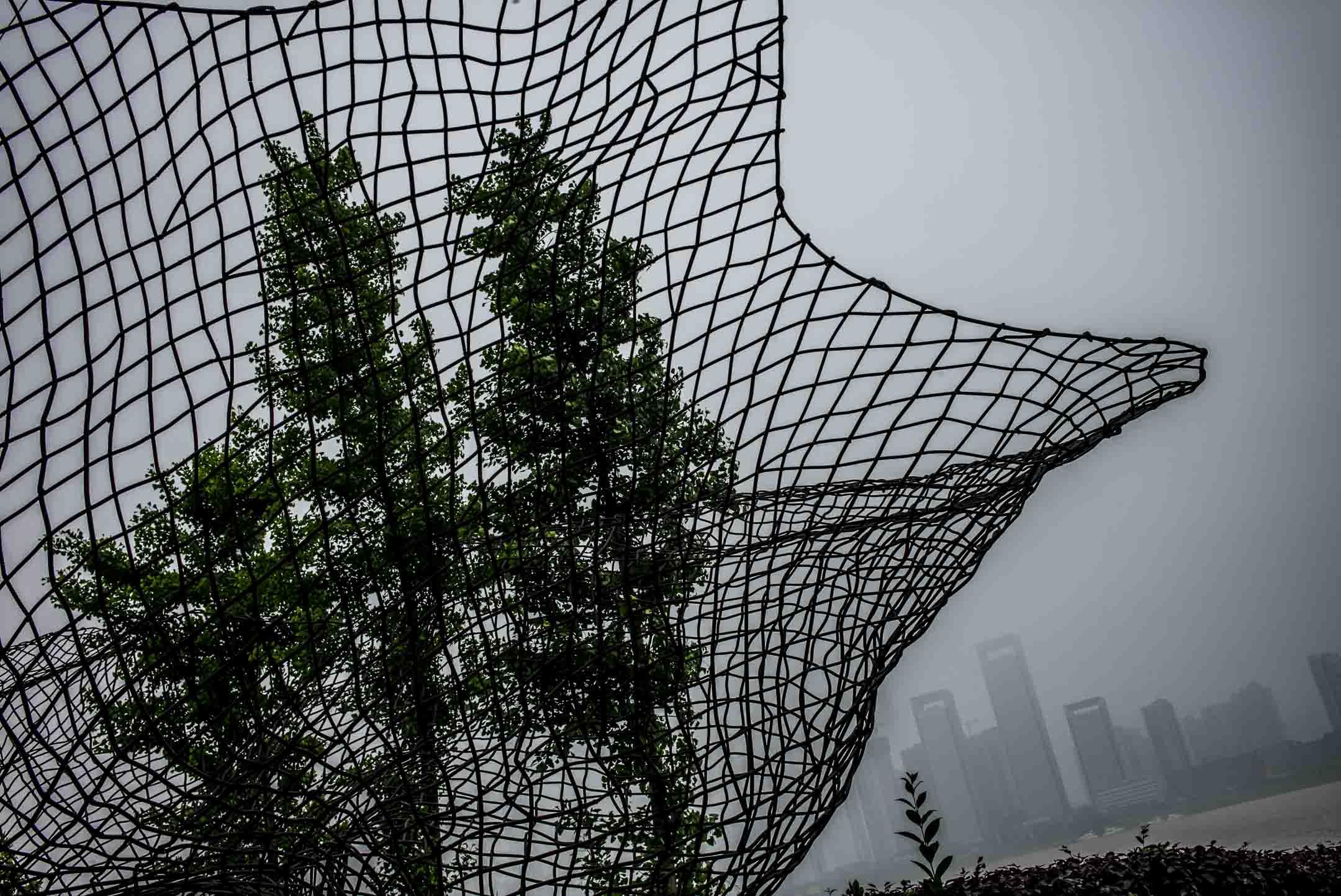 2019年4月,湖南長沙一個被濃霧籠罩的清晨。 攝:林振東/端傳媒