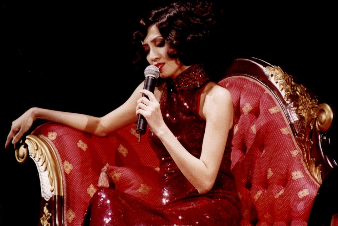 在舞台上的梅艷芳。 圖:作者提供