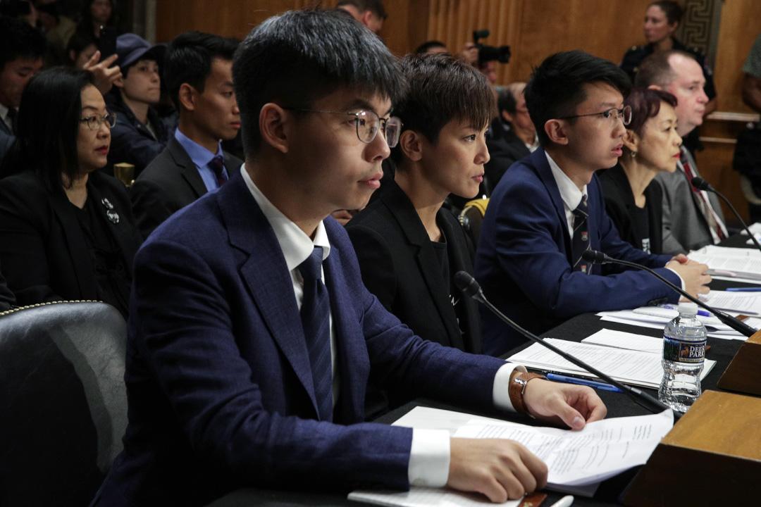 2019年9月17日,歌手何韻詩在華盛頓舉行的美國國會聽證會。