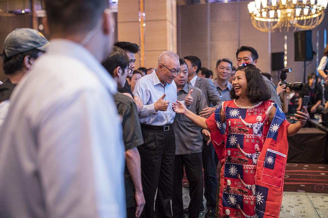 2019年9月11日,吳敦義在國民黨的競選活動上。 攝:陳焯煇/端傳媒
