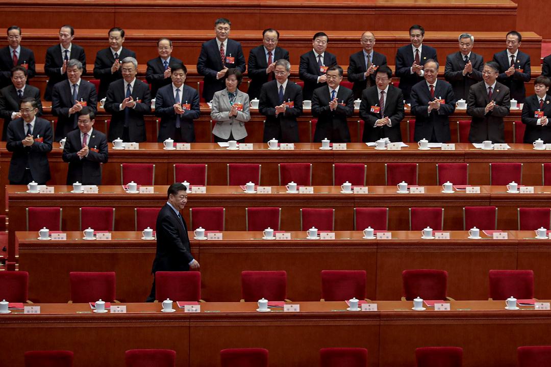 2019年3月15日,中國舉行第十三屆全國人民代表大會最後一節會議。 攝:Andrea Verdelli/Getty Images