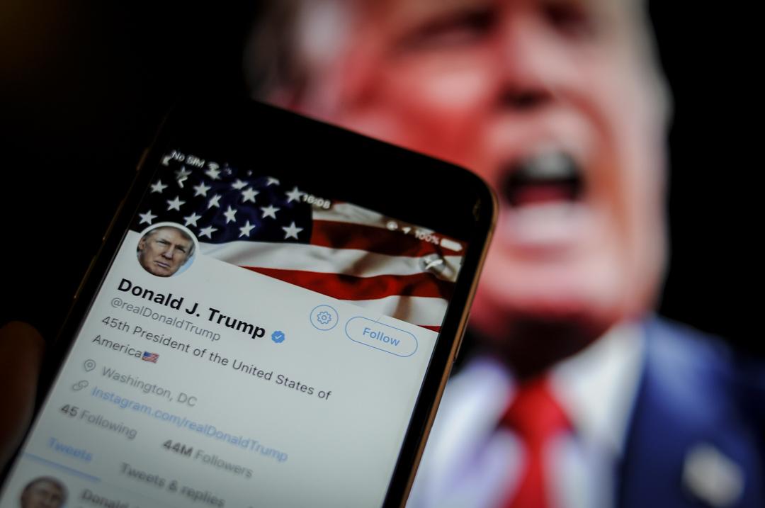 2020年美國總統大選將至,社交網站Twitter將完全禁止投放所有政治廣告,將涵蓋任何政客、選舉候選人、政黨等。 攝:Jaap Arriens/NurPhoto via Getty Images