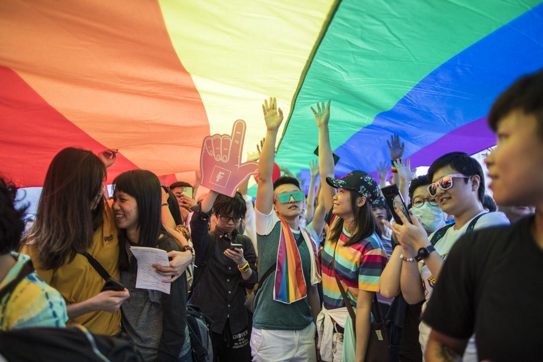 2019年11月16日,由同志組織「香港彩虹」舉辦的集會。