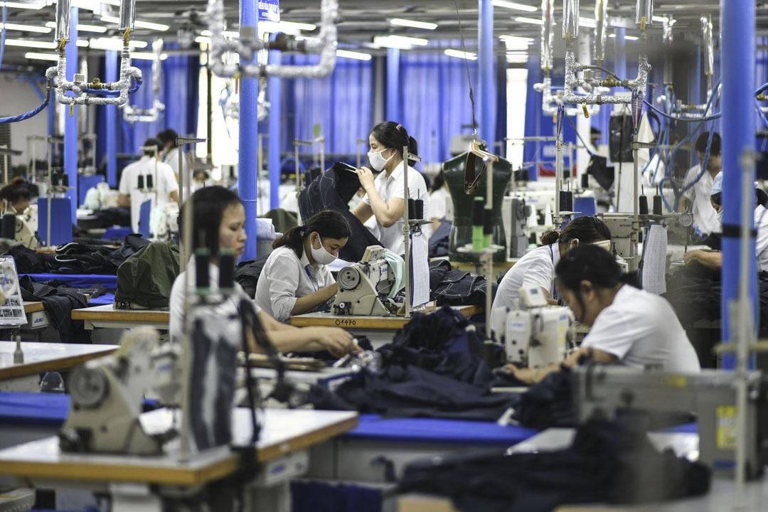 2019年5月24日,河內一家工廠。 攝:MANAN VATSYAYANA/AFP via Getty Images