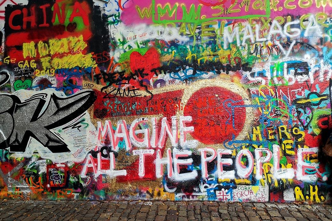 布拉格列儂牆。