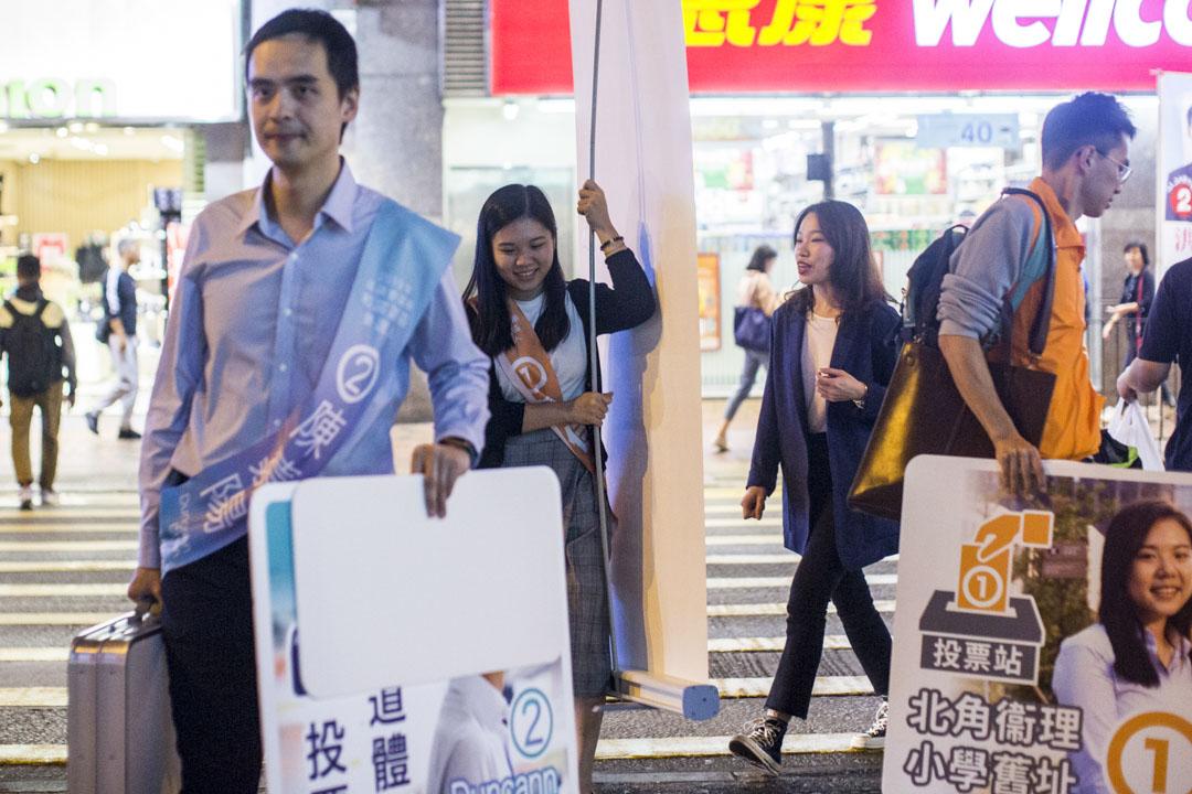 23歲的福建第三代的素人傅佳琳,出戰被視為「建制派老巢」的北角選區。