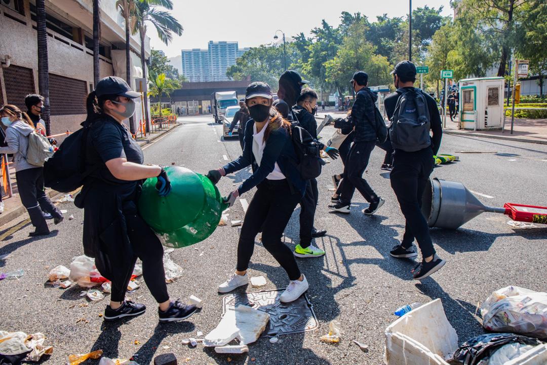 2019年11月11日,香港發起三罷行動,圖為沙田現場。