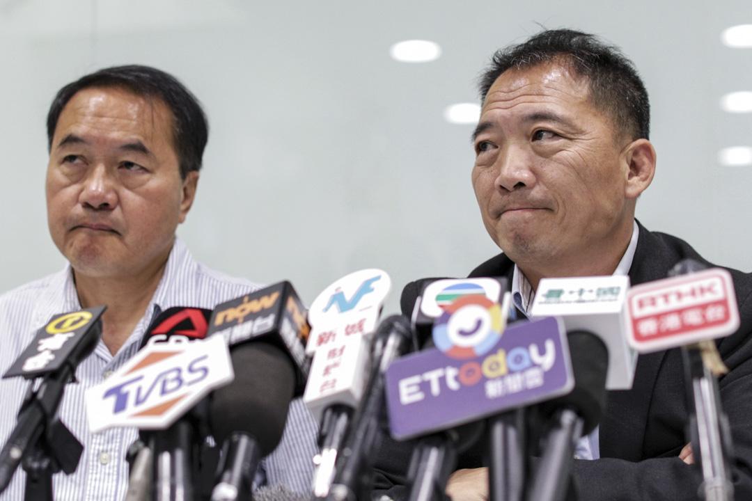 2019年11月25日,民主黨就區議會選舉召開記者會。