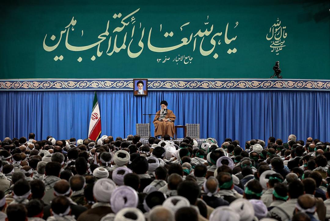 伊朗最高領袖阿里·哈梅内伊(Ali Khamenei)發表講話,評論近日的示威活動。