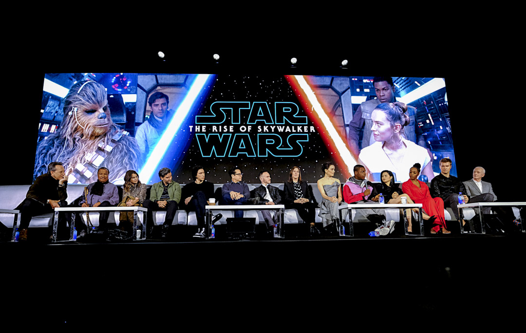 《星球大戰》系列第九集最終回,《星球大戰:天行者崛起》(Star Wars: The Rise of Skywalker)主創團隊。 攝:Alberto E. Rodriguez/Getty Images for Disney