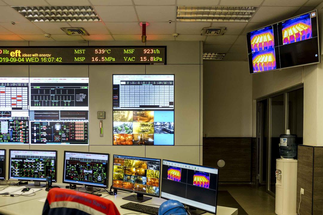 斯坦納瑞電廠內的控制室。
