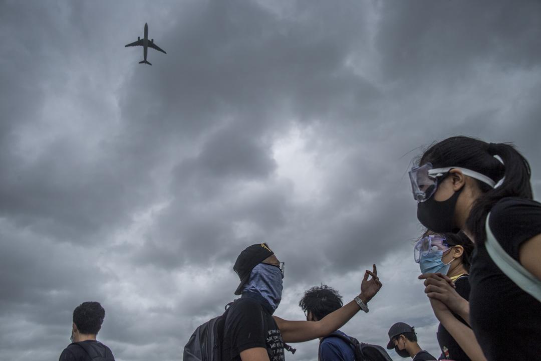 2019年9月1日,大批示威者由香港國際機場撤退前往東涌。