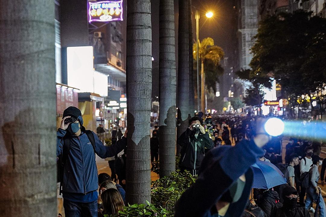 2019年12月24日,示威者在尖沙咀。