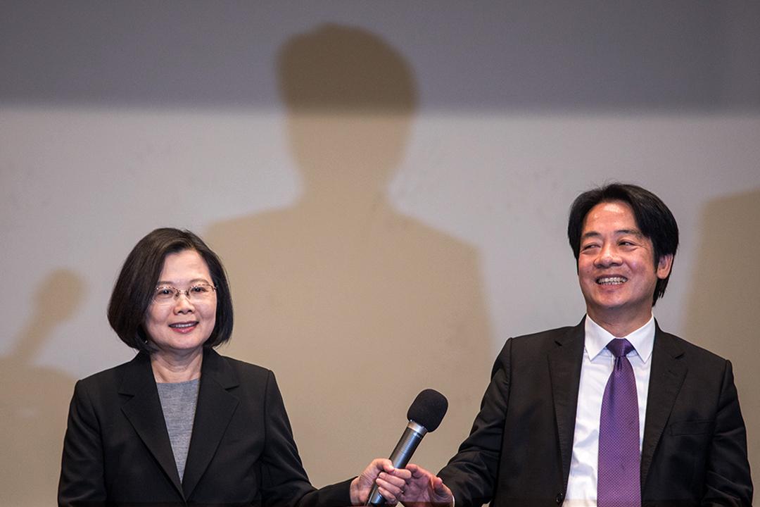 2019年12月29日,2020總統選舉電視辯論後的記者會。