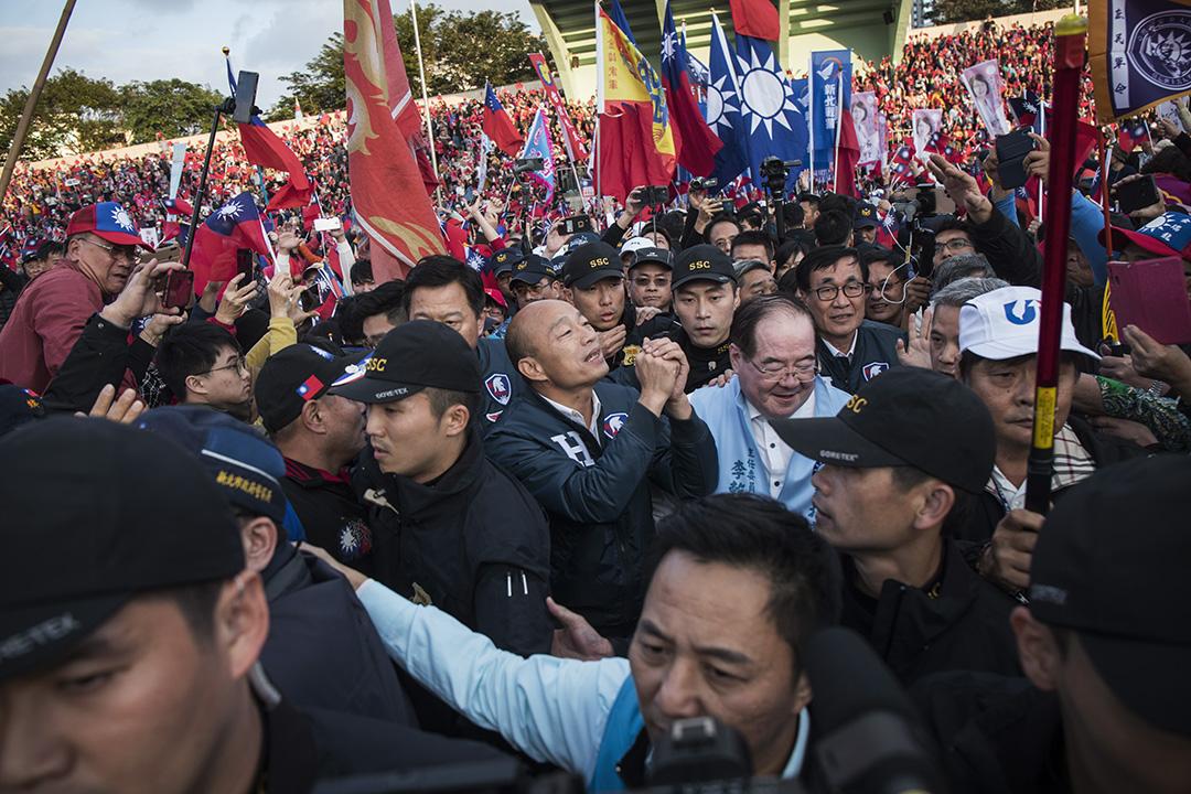 2019年12月8日板橋,韓國瑜的造勢活動。