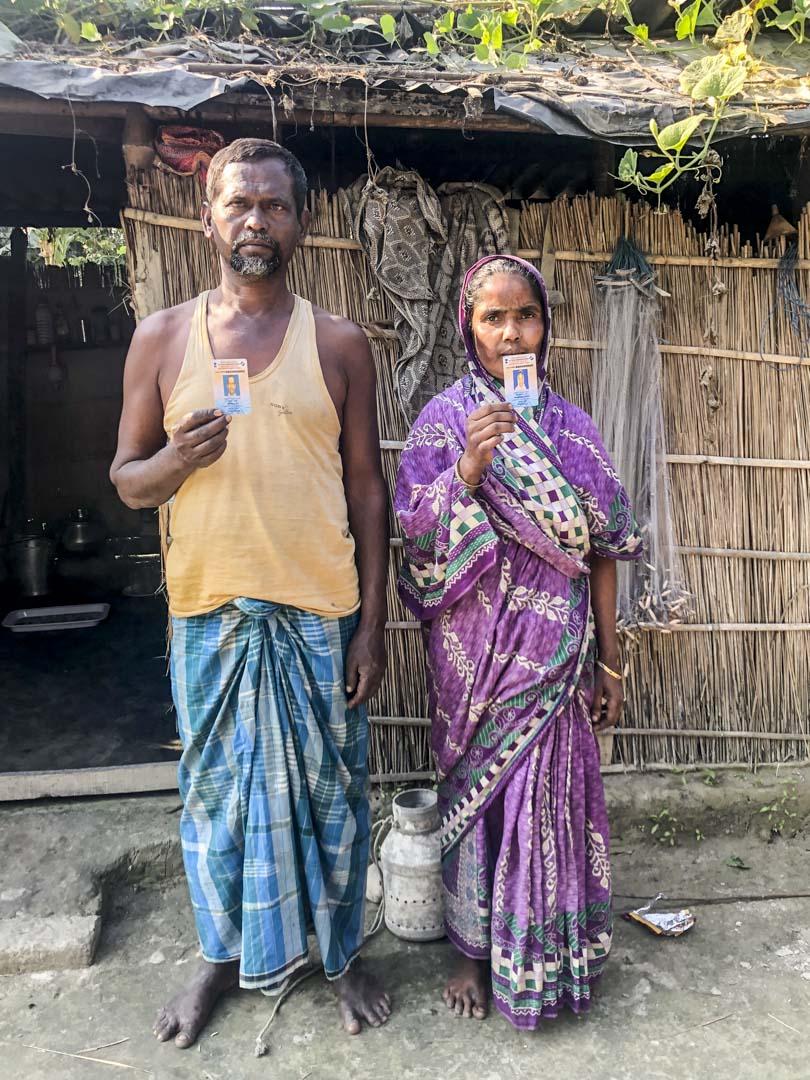 村民蒙泰吉·阿里和他的妻子。